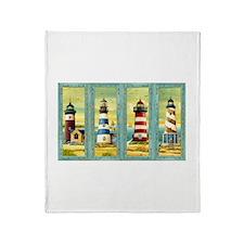 Cute Lighthouse Throw Blanket
