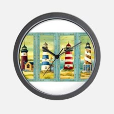 Cute Cape cod lighthouse Wall Clock