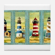 Funny Lighthouse Tile Coaster