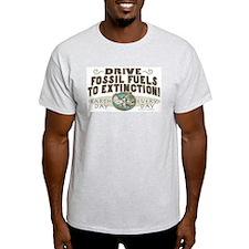 Make Fossil Fuels Extinct Ash Grey T-Shirt