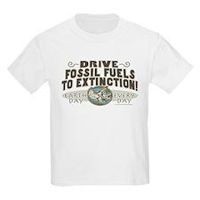 Make Fossil Fuels Extinct Kids T-Shirt