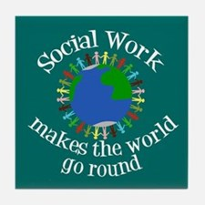Social Work World Tile Coaster