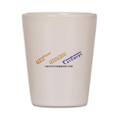 WOM, W3E, List Logos Shot Glass
