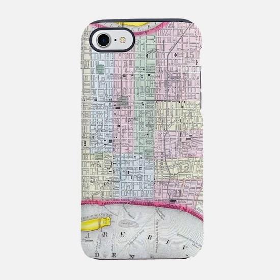 Vintage Map of Philadelphia Pe iPhone 7 Tough Case