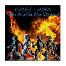CPRS/RSD This Is Not Our Destiny Tile Coaster
