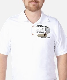 Funny Toilet Paper Life Golf Shirt