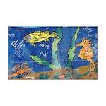 Water Graffiti Art 38.5 x 24.5 Wall Peel