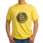 Zebra Art Yellow T-Shirt
