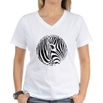 Zebra Art Women's V-Neck T-Shirt