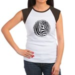 Zebra Art Women's Cap Sleeve T-Shirt