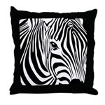 Zebra Art Throw Pillow