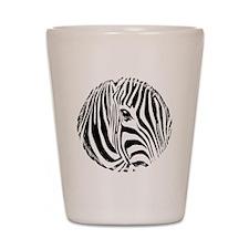 Zebra Art Shot Glass
