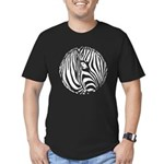 Zebra Art Men's Fitted T-Shirt (dark)