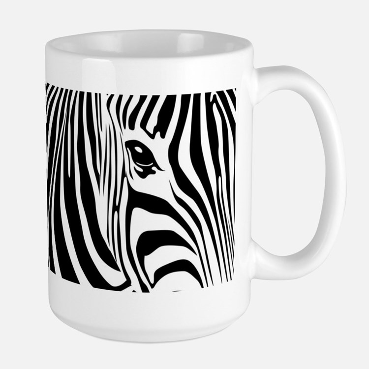 Zebra Art Large Mug