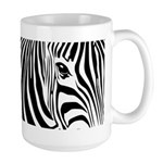 Zebra Art Large Mug