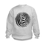Zebra Art Kids Sweatshirt