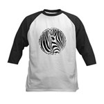 Zebra Art Kids Baseball Jersey