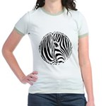 Zebra Art Jr. Ringer T-Shirt