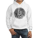 Zebra Art Hooded Sweatshirt