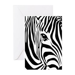 Zebra Art Greeting Cards (Pk of 20)