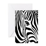 Zebra Art Greeting Card