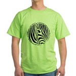 Zebra Art Green T-Shirt