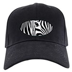 Zebra Art Black Cap
