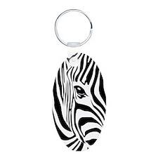 Zebra Art Keychains