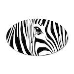 Zebra Art 38.5 x 24.5 Oval Wall Peel