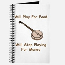 Banjo Stop Playing For Money Journal