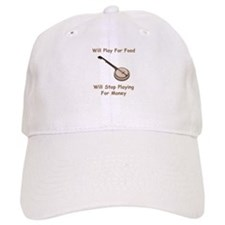 Banjo Stop Playing For Money Baseball Cap