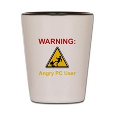 Angry PC User Shot Glass