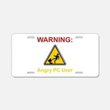 Angry PC User Aluminum License Plate