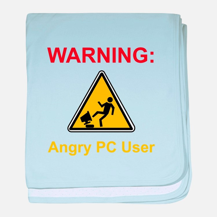 Angry PC User baby blanket