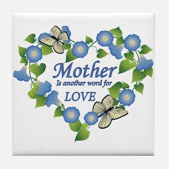Mother's Love Heart Tile Coaster
