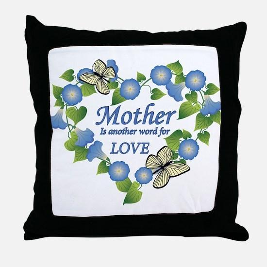 Mother's Love Heart Throw Pillow