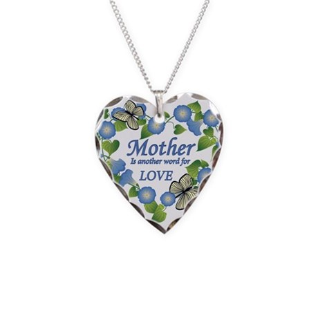 Mother's Love Heart Necklace Heart Charm