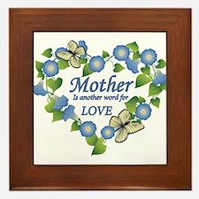 Mother's Love Heart Framed Tile