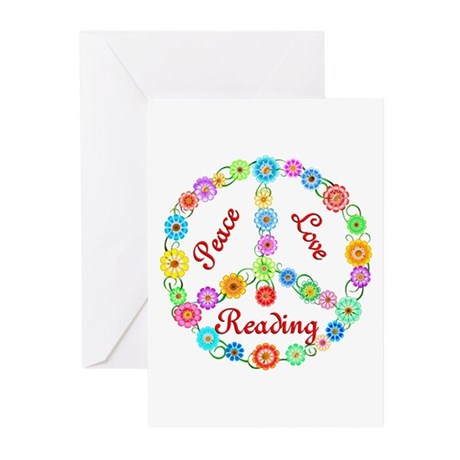 Peace Love Reading Greeting Cards (Pk of 20)