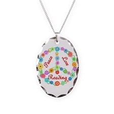 Peace Love Reading Necklace