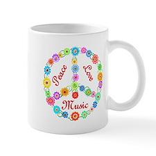 Peace Love Music Small Mugs