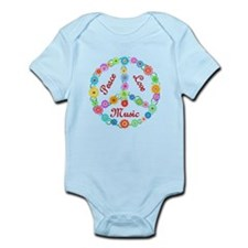 Peace Love Music Infant Bodysuit