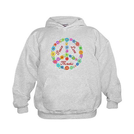 Peace Love Music Kids Hoodie
