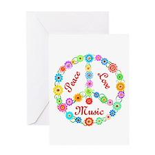 Peace Love Music Greeting Card