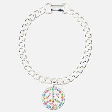 Peace Love Music Charm Bracelet, One Charm
