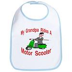 Grand Pa Rides A Motor Scoote Bib