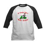 Grand Pa Rides A Motor Scoote Kids Baseball Jersey