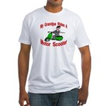 Grand Pa Rides A Motor Scoote Fitted T-Shirt