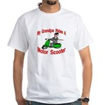 Grand Pa Rides A Motor Scoote White T-Shirt