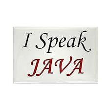 """I Speak Java"" Rectangle Magnet (100 pack)"